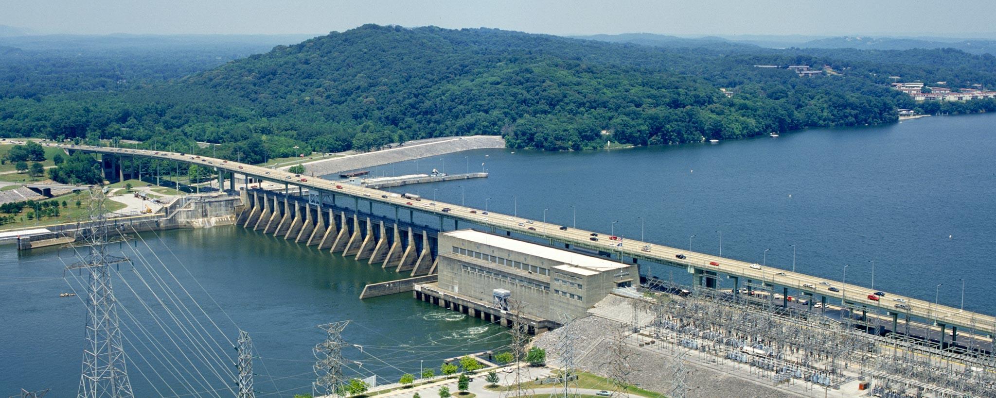 Chickamauga dam city scene 411 in chattanooga for Chickamauga lake fishing